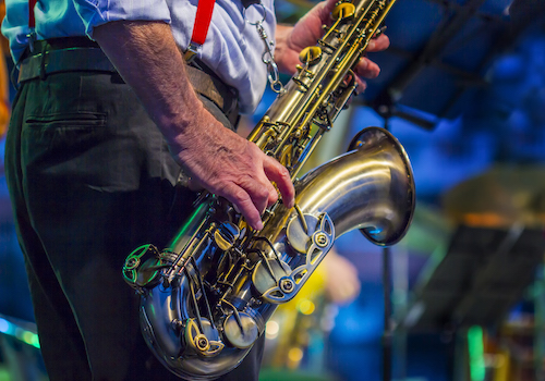 Musician playing Jazz at Festival