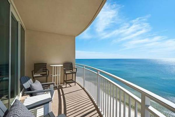 view of gulf of mexico from Aqua Resort in Panama City Beach Florida