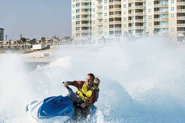 ocean jet ski at Aqua Resort in Panama City Beach Florida