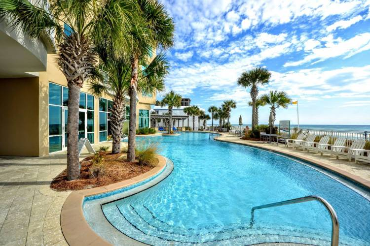 aqua resort pool panama city beach florida