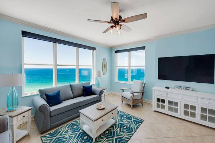 beachfront condo interior at Aqua Gulf Resort
