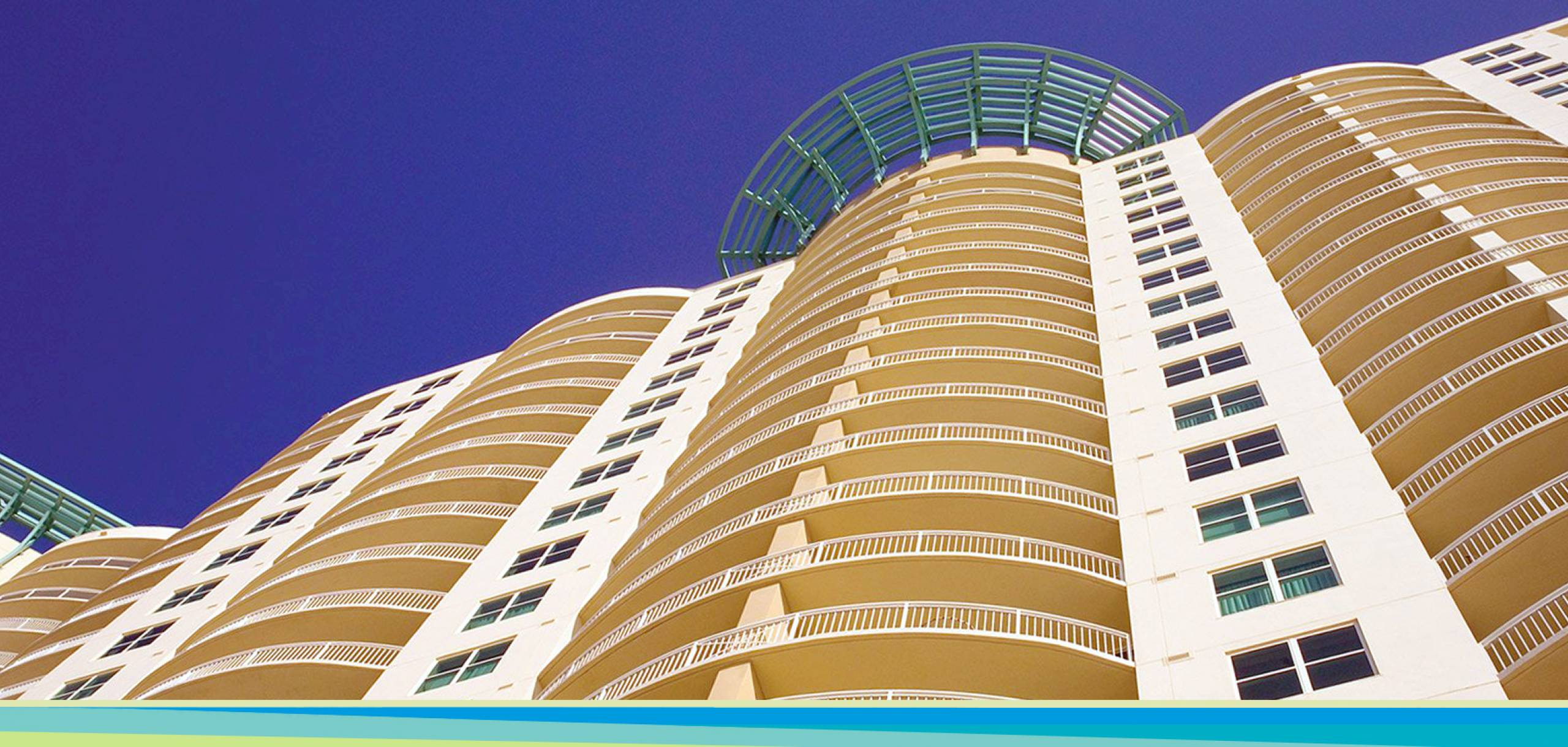 Aqua Resort condominium building in Panama City Beach Flordia